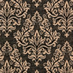 Safavieh Poolside Black/ Cream Indoor Outdoor Rug (4' x 5'7) - Thumbnail 2