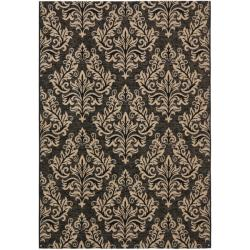 Safavieh Poolside Black/ Cream Indoor Outdoor Rug (5'3 x 7'7)
