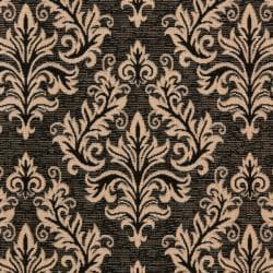 Safavieh Poolside Black/ Cream Indoor Outdoor Rug (8' x 11'2) - Thumbnail 2