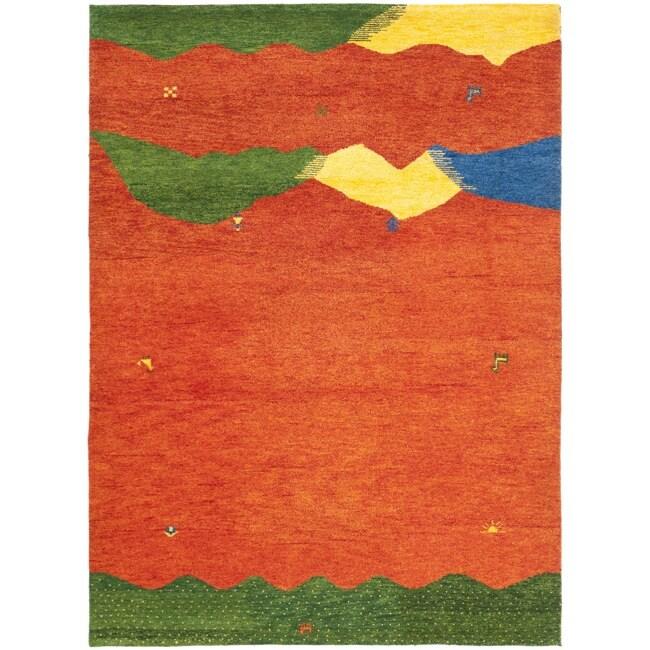 Safavieh Hand-knotted Gabeh Valleys Rust Wool Rug (6' x 9')