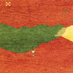 Safavieh Hand-knotted Gabeh Valleys Rust Wool Rug (6' x 9') - Thumbnail 2