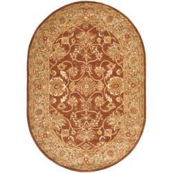 Safavieh Handmade Golden Jaipur Rust/ Green Wool Area Rug (7'6 x 9'6)