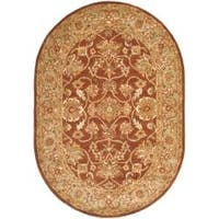 "Safavieh Handmade Golden Jaipur Rust/ Green Wool Area Rug - 7'6"" x 9'6"" oval"