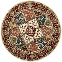 Safavieh Handmade Heritage Timeless Traditional Multi/ Red Wool Rug - 6' x 6' Round