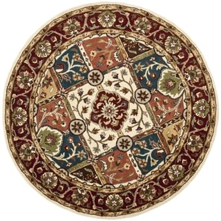 Safavieh Handmade Heritage Timeless Traditional Multi/ Red Wool Rug (8' Round)