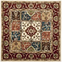 Safavieh Handmade Heritage Timeless Traditional Multi/ Red Wool Rug - 6' x 6' Square