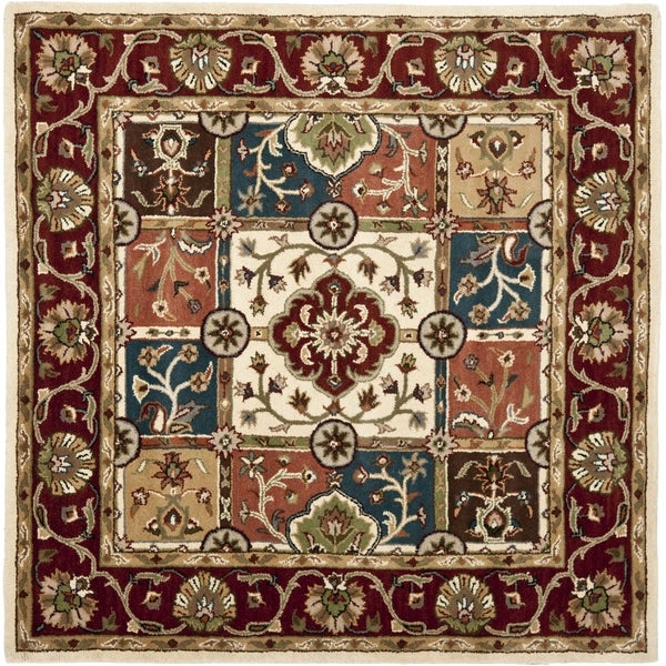 Safavieh Handmade Heritage Timeless Traditional Multi/ Red Wool Rug (6' Square)