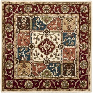 Safavieh Handmade Heritage Timeless Traditional Multi/ Red Wool Rug (8' Square)