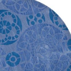 Safavieh Handmade Chatham Treasures Blue New Zealand Wool Rug (7' Round)