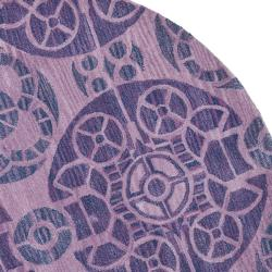 Safavieh Handmade Chatham Treasures Purple New Zealand Wool Rug (7' Round) - Thumbnail 1