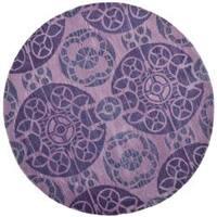 Safavieh Handmade Chatham Treasures Purple New Zealand Wool Rug - 7' x 7'