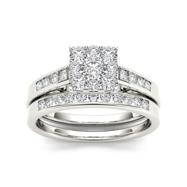 De Couer 10k Gold 3/4ct TDW Diamond Bridal Ring Set (H-I, I2)