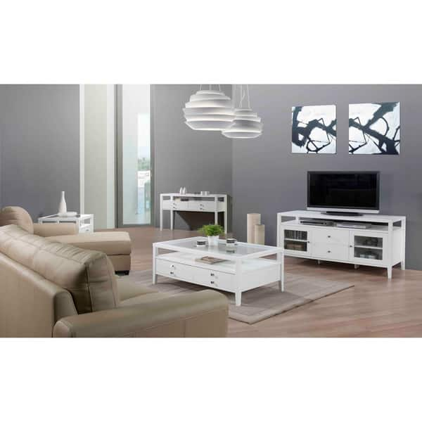 Shop Strick & Bolton Aristo Gloss White Sofa Table - Free ...