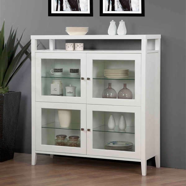 Aristo Gloss White Four Door Cabinet