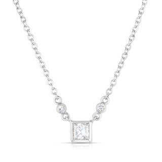Eloquence 18k White Gold 1/3ct TDW Classic Diamond Necklace (H-I, SI1-SI2)