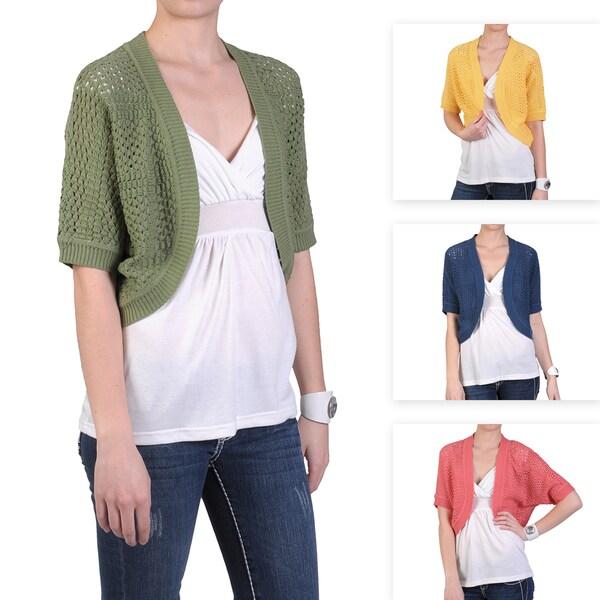 1369b173d9f2 Shop 89th   Madison Brand Women s Open Crochet Half-sleeve Sweater ...