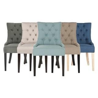 Safavieh En Vogue Abby Linen Dining Chairs (Set of 2)