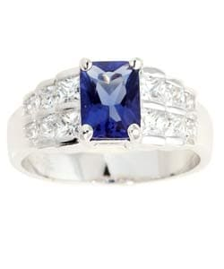 Icz Stonez Sterling Silver Blue   White CZ Ring