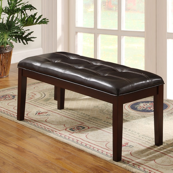 Colyton Rich Espresso 48-inch Casual Upholstered Bench by TRIBECCA HOME