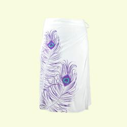 Handmade Peacock Wrap Around Skirt (Nepal) - Thumbnail 1