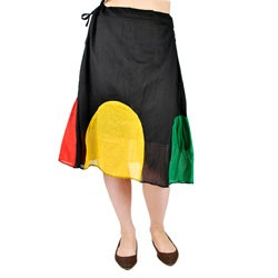 Handmade Cotton Rasta Patch Skirt (Nepal)
