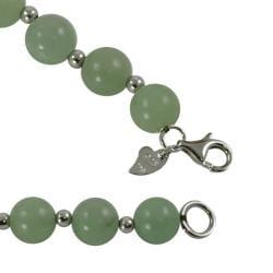 Sterling Silver 8-mm Jade Bead Bracelet - Thumbnail 1
