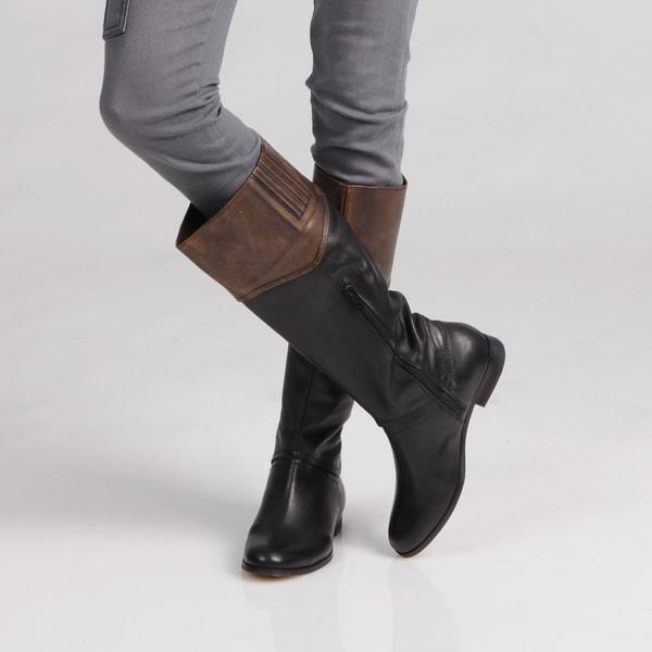 Luichiny Women's Black/ Cognac Boots