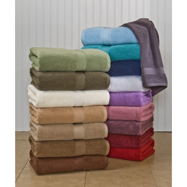 Calcot 600 GSM Supima Cotton Zero Twist Bath Towel (Set of 4)