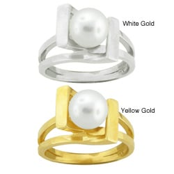 10k Gold Freshwater Pearl Ring (7-7.5 mm)