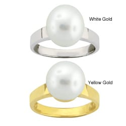 10k Gold Freshwater Pearl Ring (10-11 mm)