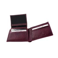 Yaali New York Purple Leather Bi-fold Wallet - Thumbnail 2