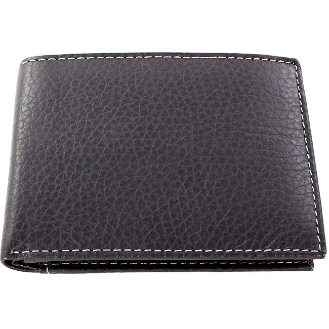 Yaali New York Grey Leather Bi-fold Wallet