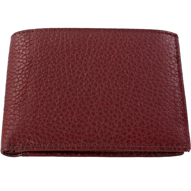 Yaali New York Cherry Leather Bi-fold Wallet