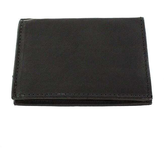 Black Leather Bi-Fold Wallet