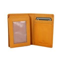 Tan Leather Bi-Fold Wallet