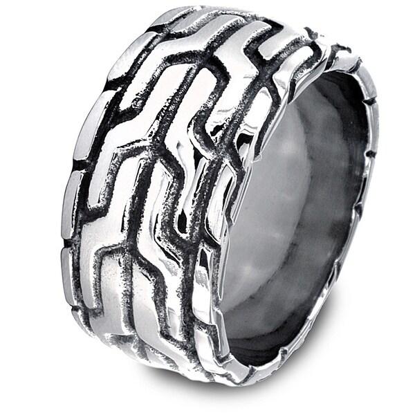 Stainless Steel Men's Pattern Ring