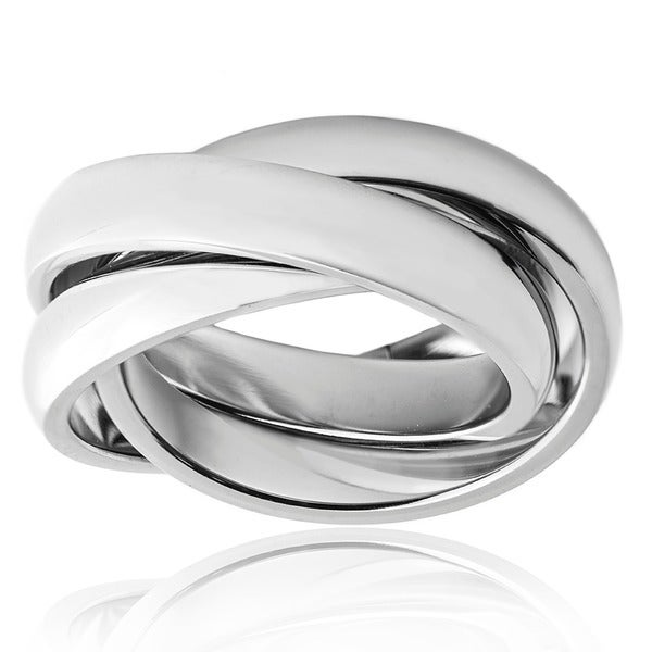 High Polish Trinity Stainless Steel Ring