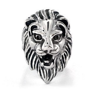Stainless Steel Men's Lion's Head Ring