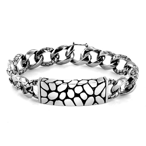 Stainless Steel Cobblestone Bracelet