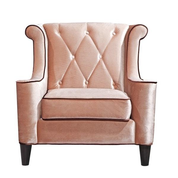 Modern Caramel Velvet Chair