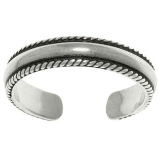 Sterling Silver Bead Edge Toe Ring