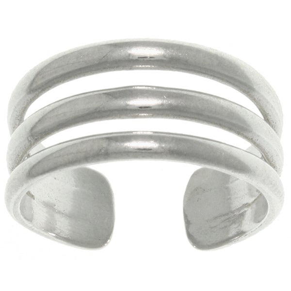 Sterling Silver 3-band Wide Toe Ring