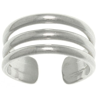 Carolina Glamour Collection Sterling Silver 3-band Wide Toe Ring