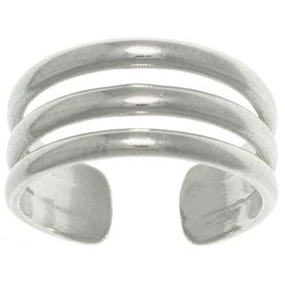 Carolina Glamour Collection Sterling Silver 3-band Wide Toe Ring|https://ak1.ostkcdn.com/images/products/6626276/P14192519.jpg?impolicy=medium