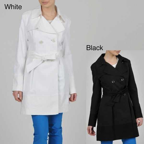 Ivanka Trump Women's Double Breasted Belted Trench