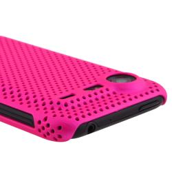 Pink Meshed Rear Snap-on Case for HTC Droid Incredible S