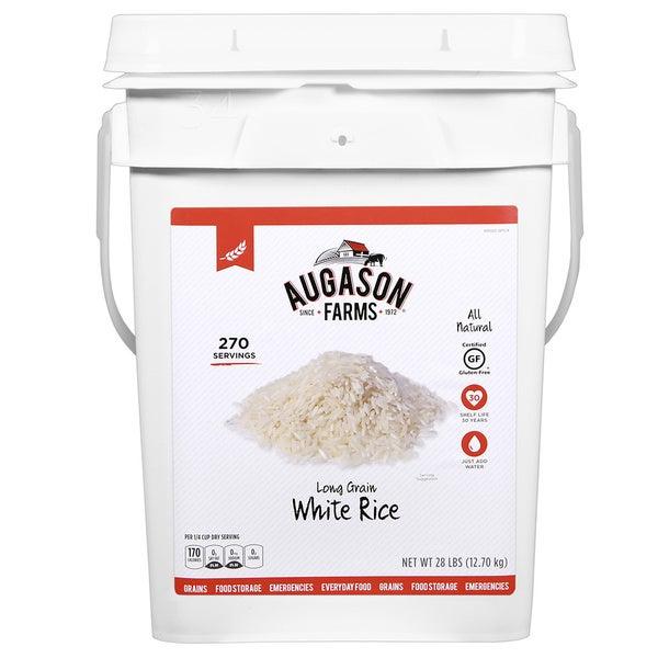 Augason Farms Long Grain White Rice Pail