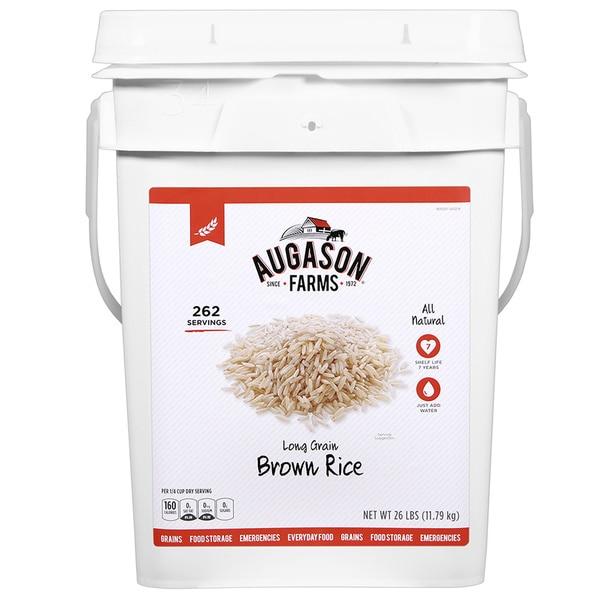 Augason Farms Long-grain Brown Rice Pail