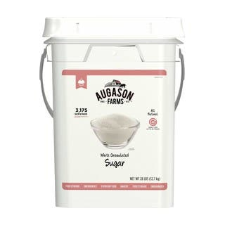 Augason Farms Granulated White Sugar Pail https://ak1.ostkcdn.com/images/products/6626542/P14192703.jpg?impolicy=medium