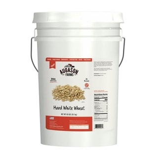 Shop Augason Farms Hard White Wheat Pail Free Shipping